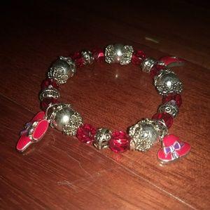 Red Hat Lady of society charm bracelet